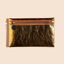 Load image into Gallery viewer, MM6 - Medium Zip Pouch - Gold, available at LCD