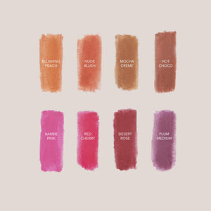 Cle Cosmetics - Melting Lip Powder, swatches, available at LCD.