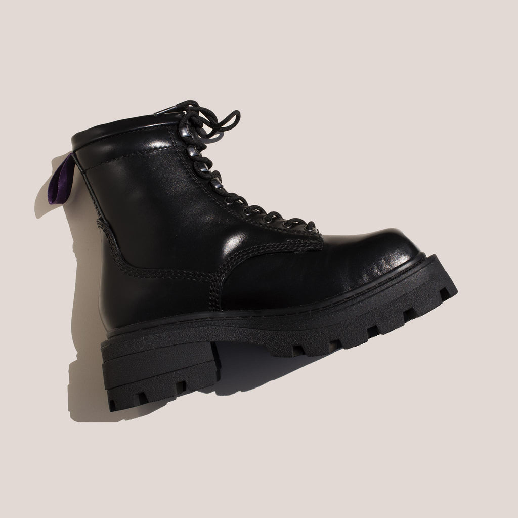Eytys - Michigan Lace-Up Platform Boot, side view, available at LCD.