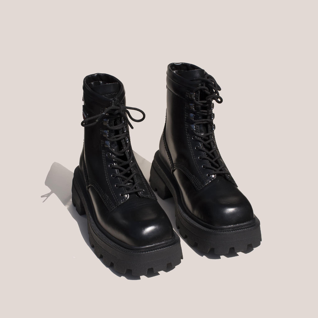 Eytys - Michigan Lace-Up Platform Boot, angled view, available at LCD.