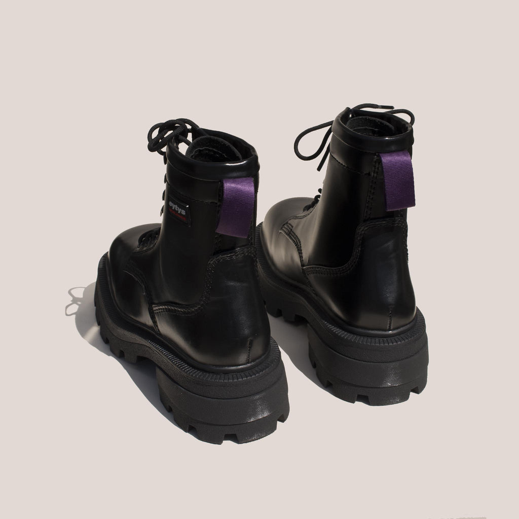 Eytys - Michigan Lace-Up Platform Boot, back view, available at LCD.