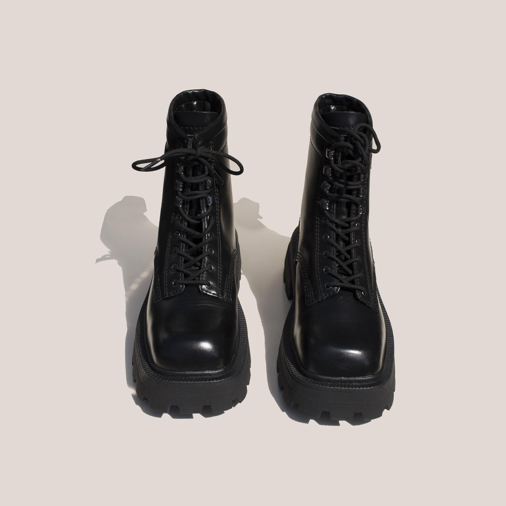 Eytys - Michigan Lace-Up Platform Boot, front view, available at LCD.