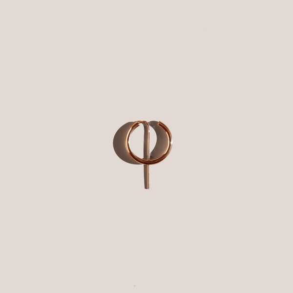 Jaclyn Moran - Mini Hoop & Post Earring - Rose Gold, available at LCD.