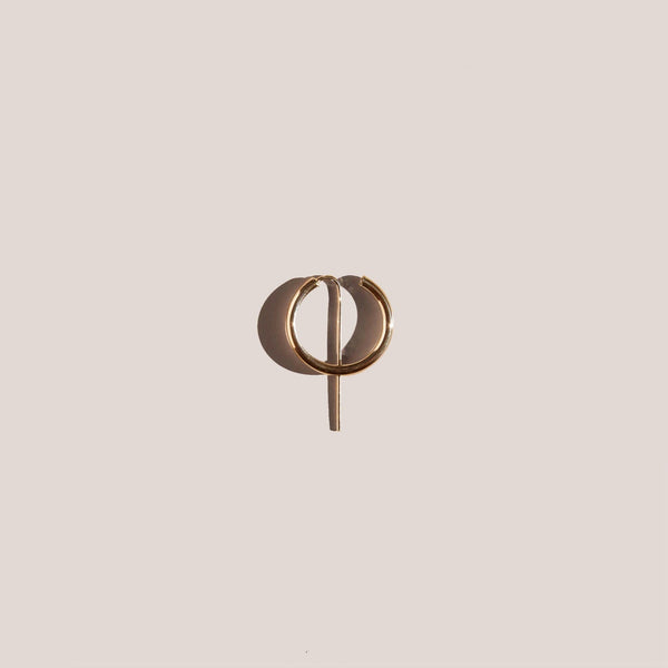 Jaclyn Moran - Mini Hoop & Post Earring - Gold, available at LCD.