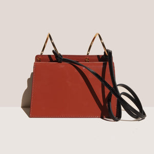 Danse Lente - Mini Phoebe Bag - Rosewood/Rose, back view, available at LCD.