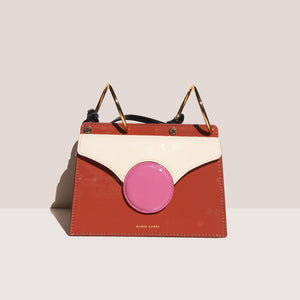 Danse Lente - Mini Phoebe Bag - Rosewood/Rose, front view, available at LCD.