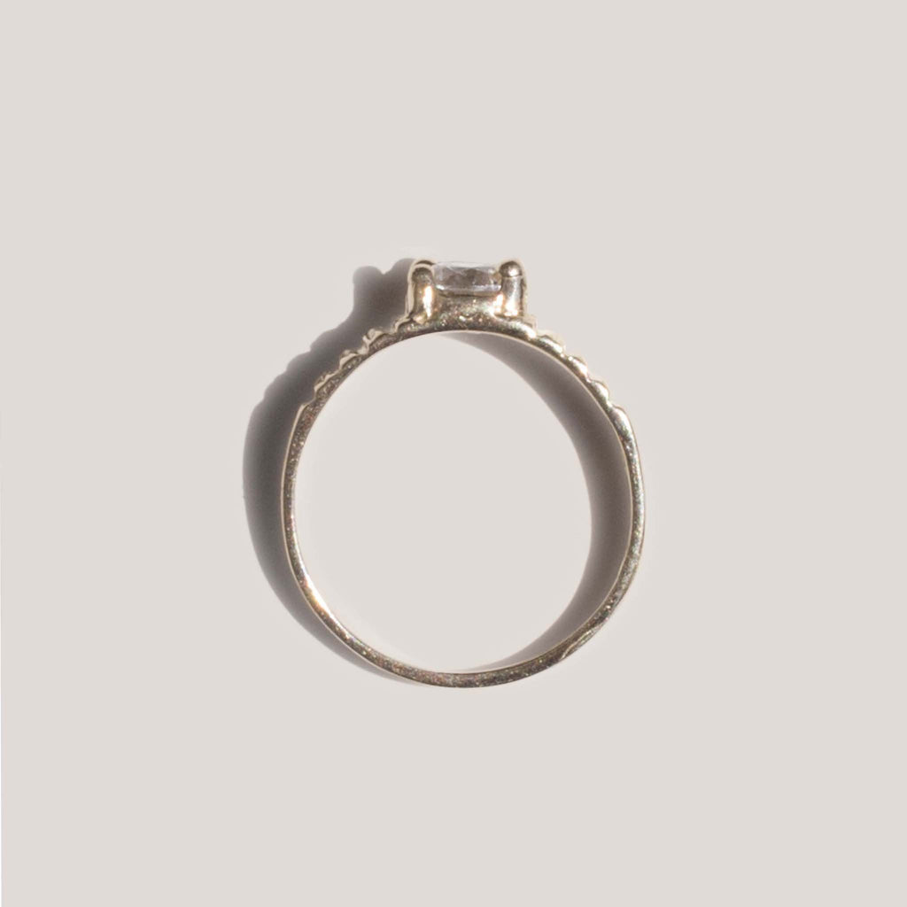 Dela Gold, Mini Stone Midi Ring, available at LCD.