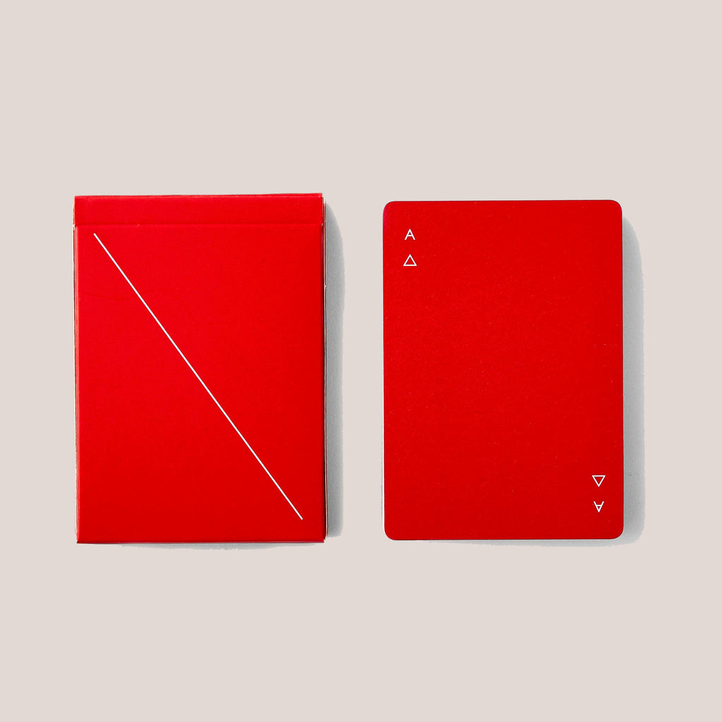 Areaware - Minim Playing Cards - Red, available at LCD.
