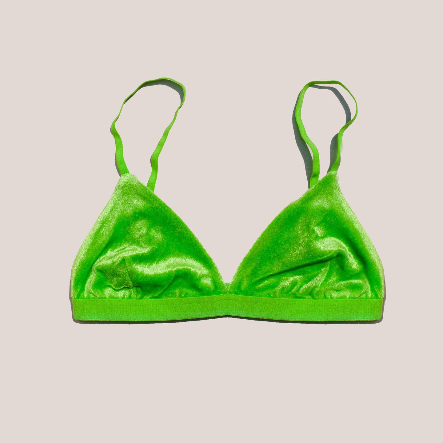 Baserange - Mississippi Bra - Ramie Green, front view, available at LCD.