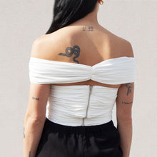 Load image into Gallery viewer, Georgia Alice - Missy Crop Top, back view, available at LCD.