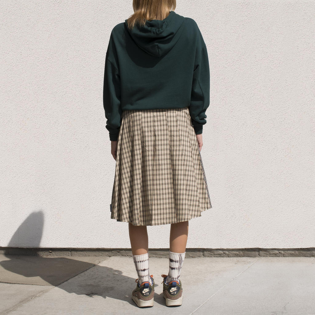 Stussy - Mix Plaid Pleated Skirt, back view.