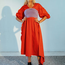 Load image into Gallery viewer, Kkco for LCD - Mollusk Dress in Coral, front view, available at LCD.