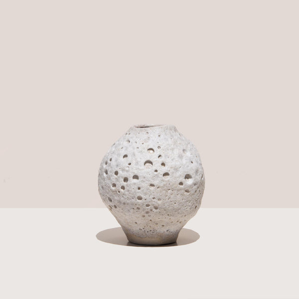 Raina Lee Ceramics - Small Moonjar, front view, available at LCD.