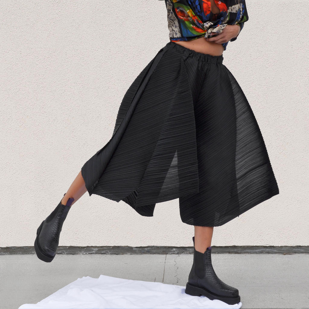 Pleats Please - Motion Colors Culottes, available at LCD.