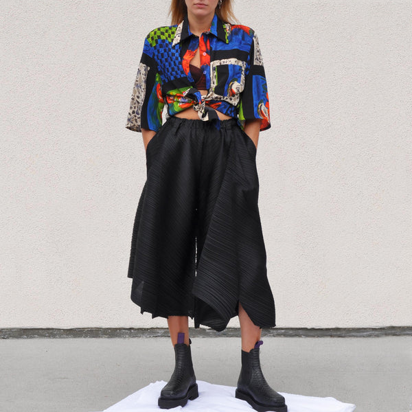Pleats Please - Motion Colors Culottes, front view, available at LCD.