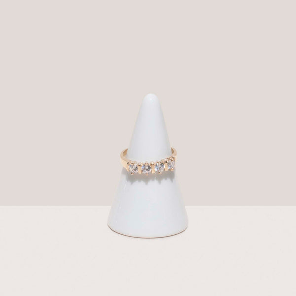 Dela Gold, Multi Stone Ring, available at LCD.
