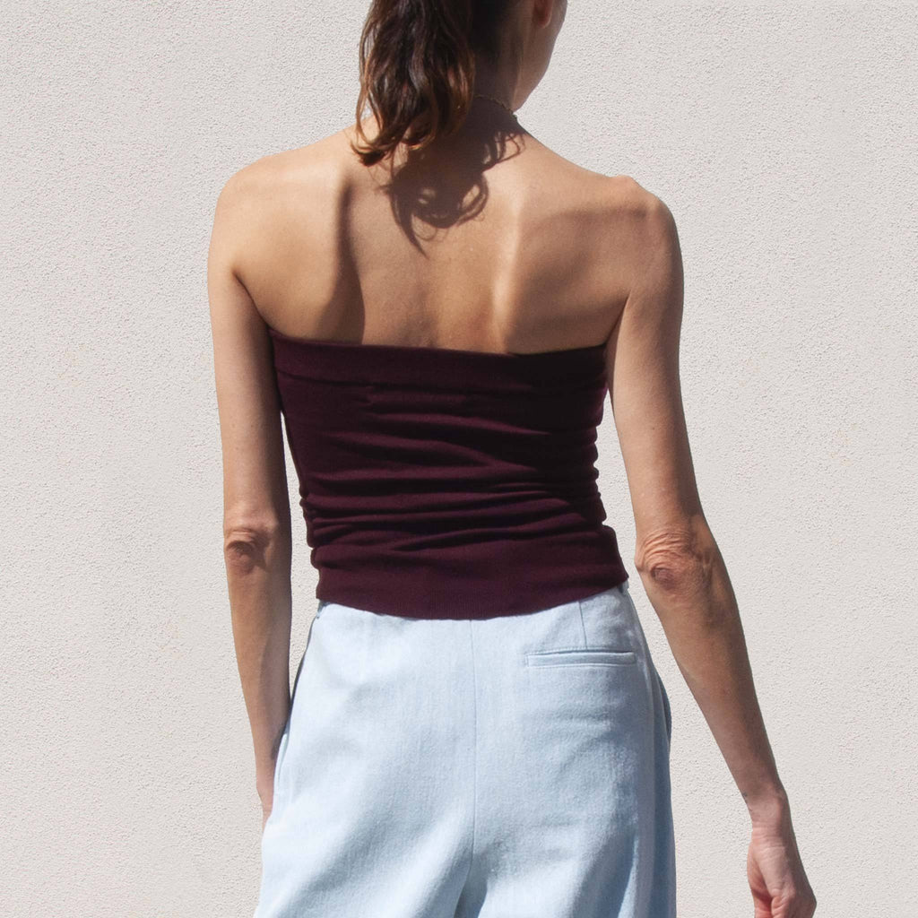 Sies Marjan - Naila Tube Top, back view, available at LCD.