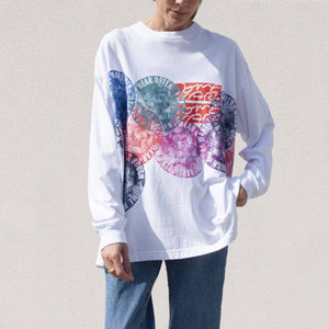 Someware - New Flower Circle Tee, front view, available at LCD.