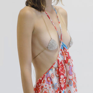 Collina Strada - Rhinestone Nipple Covers, angled view, available at LCD.