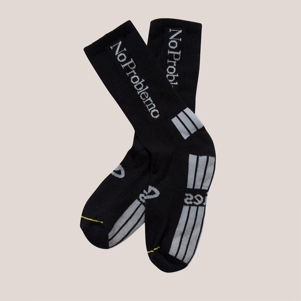 Collina Strada - No Problemo Socks - Black, available at LCD.
