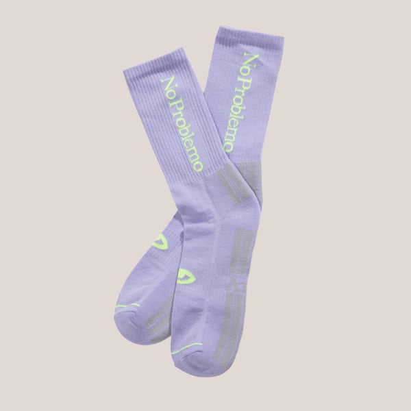 Aries - No Problemo Socks - Lilac, available at LCD.