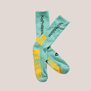 Aries - No Problemo Socks - Aqua, available at LCD.