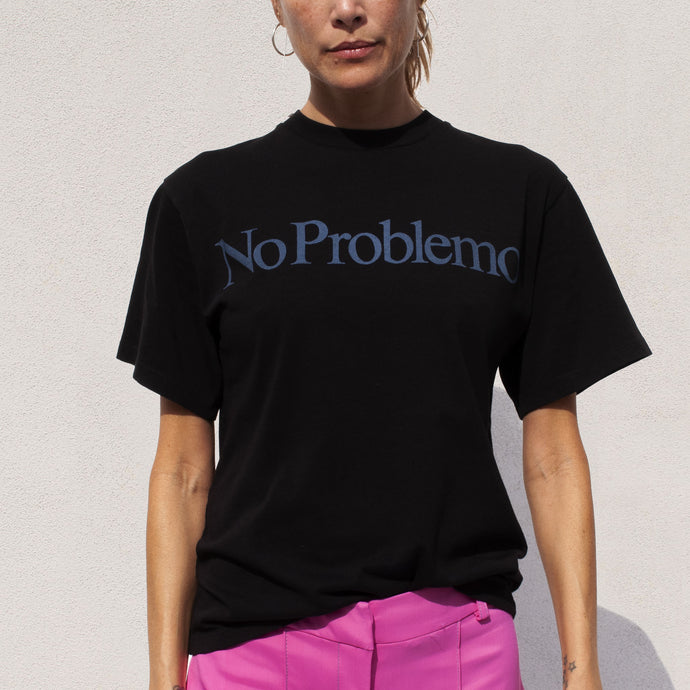 Aries - No Problemo Tee - Black, front view, available at LCD.