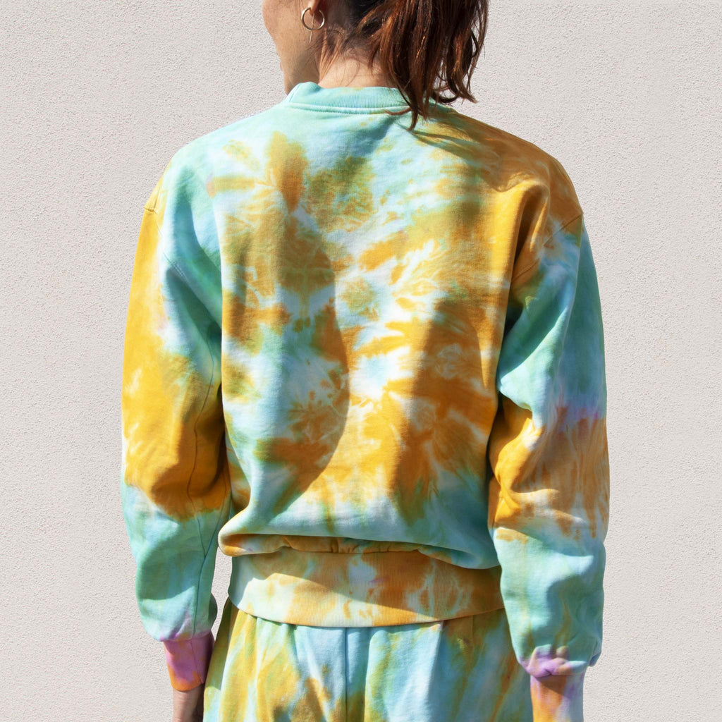Aries - No Problemo Tie Dye Sweatshirt, back view, available at LCD.