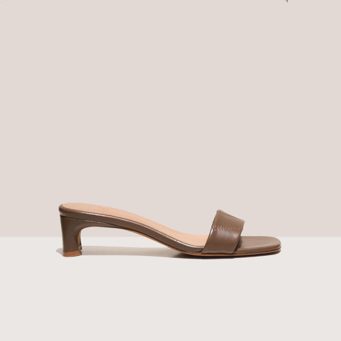 LoQ - Nona Sandals - Mousse, side view, available at LCD.