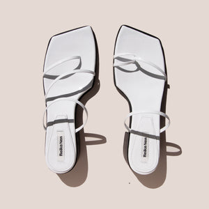 Reike Nen - Odd Pair Flat Sandals, aerial view, available at LCD.