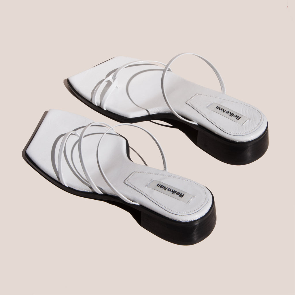 Reike Nen - Odd Pair Flat Sandals, back view, available at LCD.
