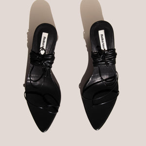 Reike Nen - Odd Pair Sandals - Black, aerial view, available at LCD.