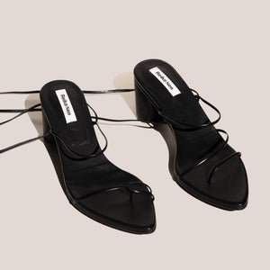 Reike Nen - Odd Pair Sandals - Black, angled view, available at LCD.