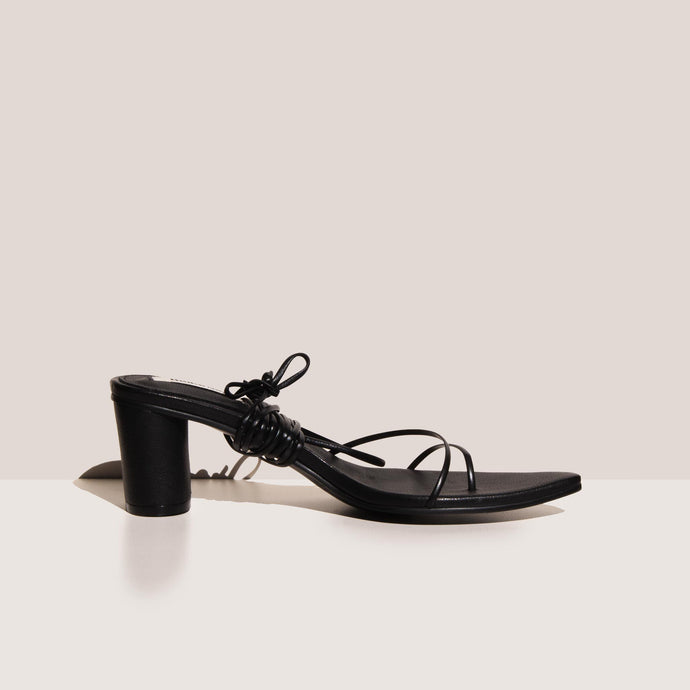 Reike Nen - Odd Pair Sandals - Black, side view, available at LCD.