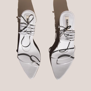 Reike Nen - Odd Pair Sandals - White, aerial view, available at LCD.