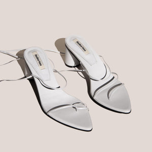 Reike Nen - Odd Pair Sandals - White, angled view, available at LCD.