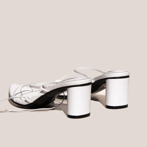 Reike Nen - Odd Pair Sandals - White, back view, available at LCD.