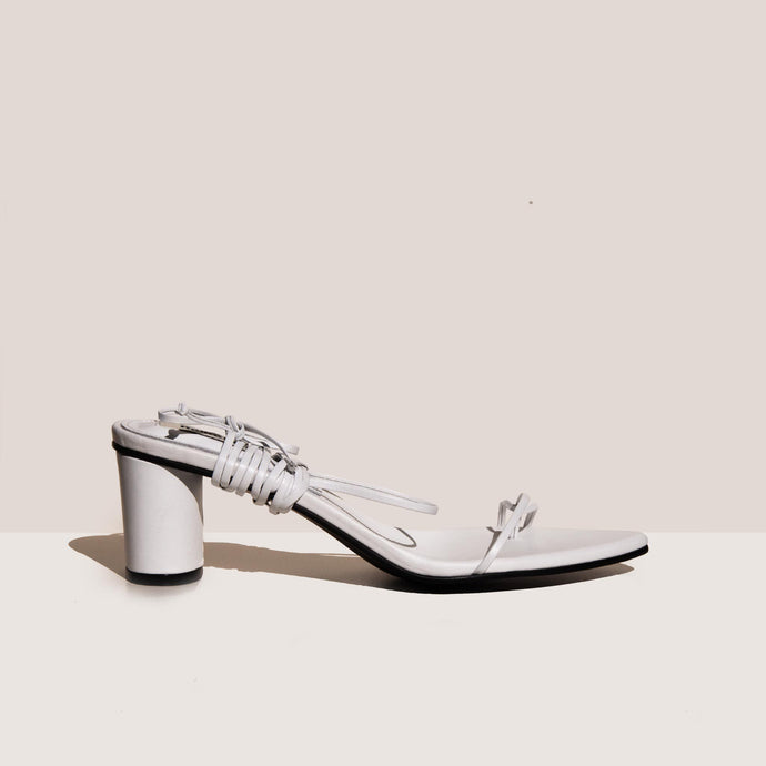 Reike Nen - Odd Pair Sandals - White, side view, available at LCD.