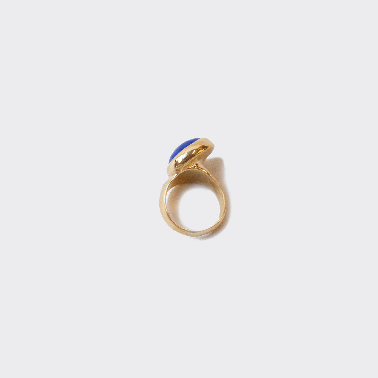 Faris - Offset Ring - Lapis, available at LCD