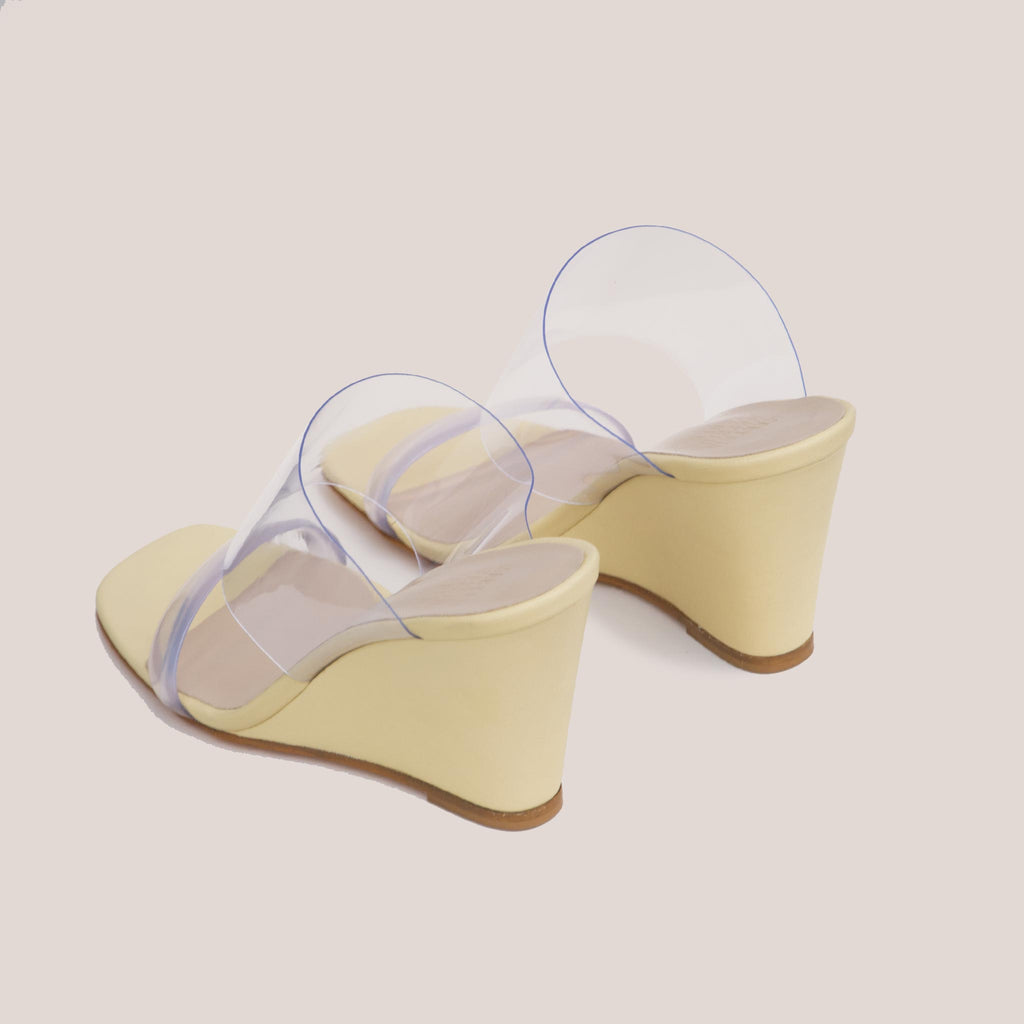 Maryam Nassir Zadeh - Olympia Wedge - Husk, back view, available at LCD.
