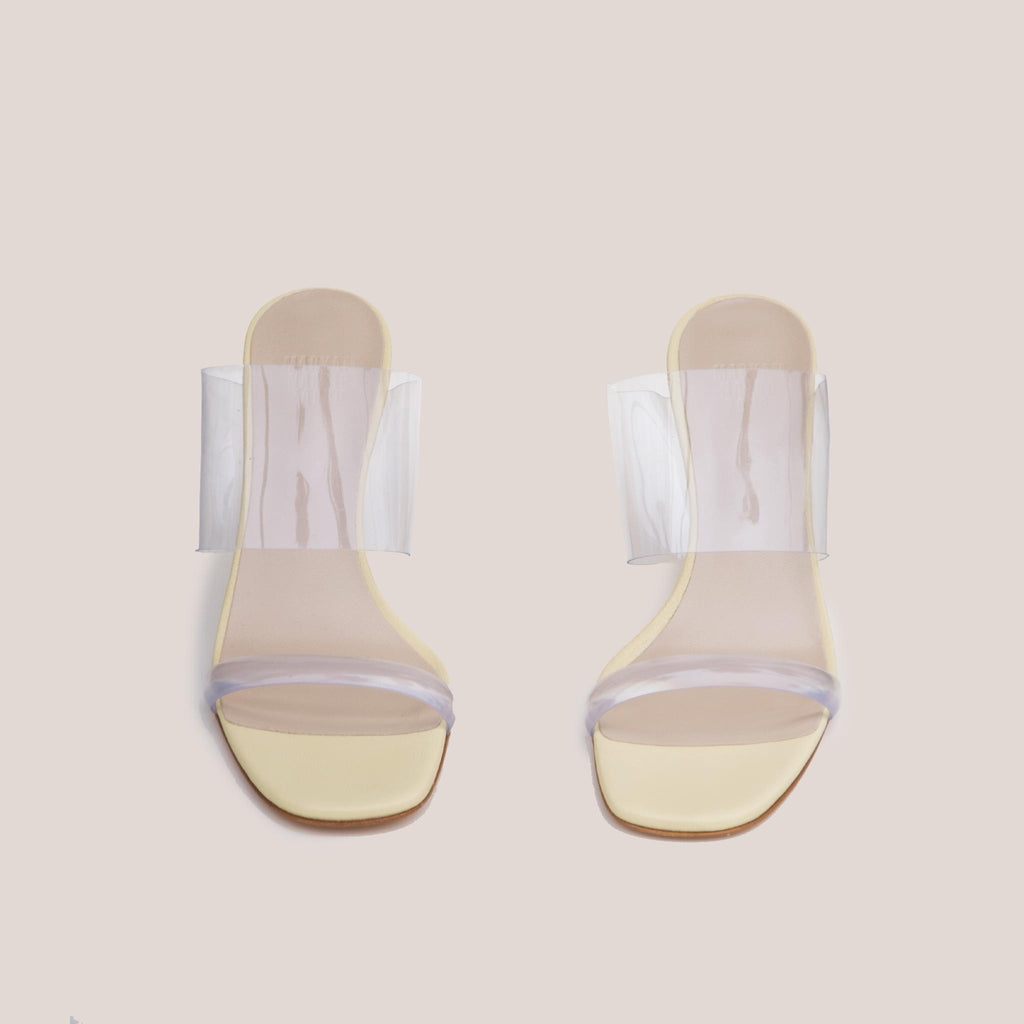 Maryam Nassir Zadeh - Olympia Wedge - Husk, front view, available at LCD.