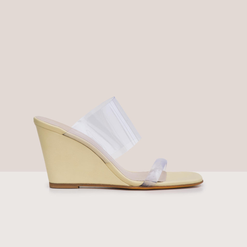 Maryam Nassir Zadeh - Olympia Wedge - Husk, side view, available at LCD.