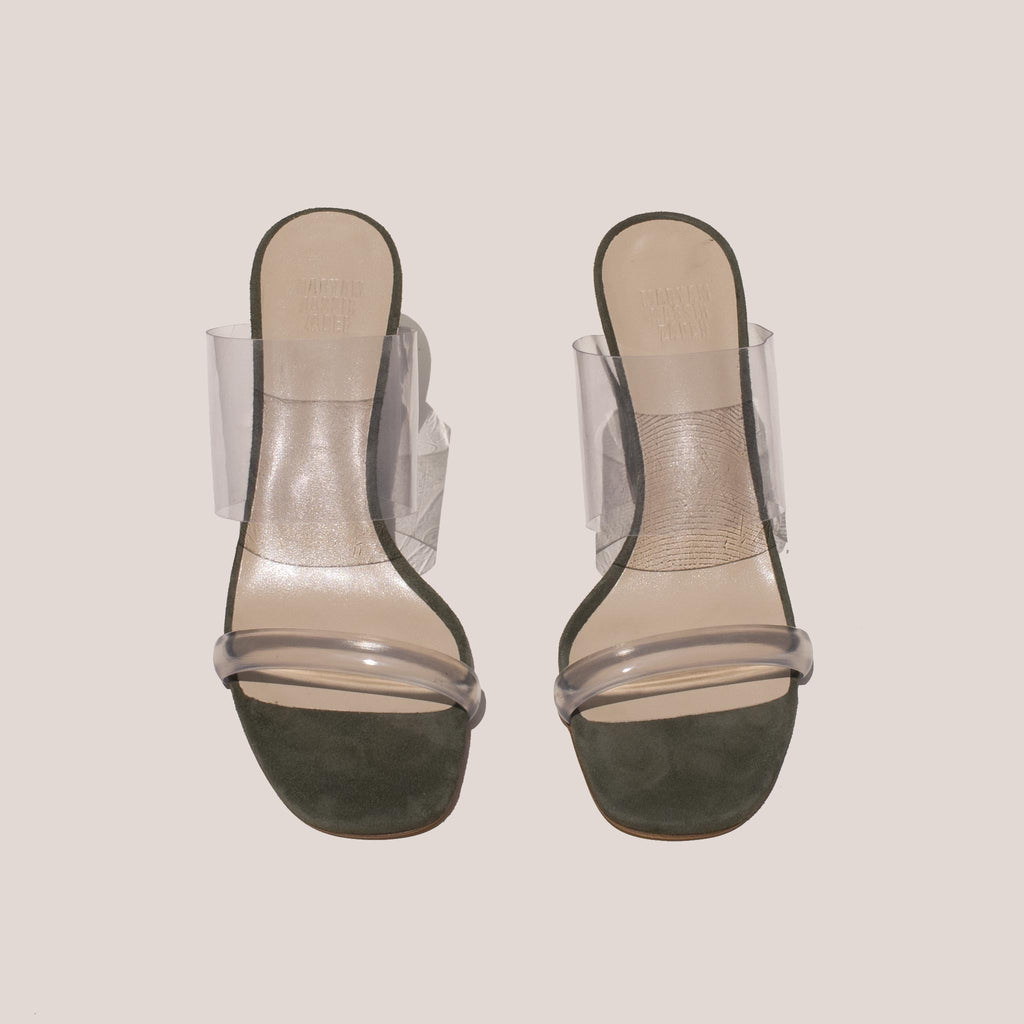 Maryam Nassir Zadeh - Olympia Wedge - Sage, front view, available at LCD.