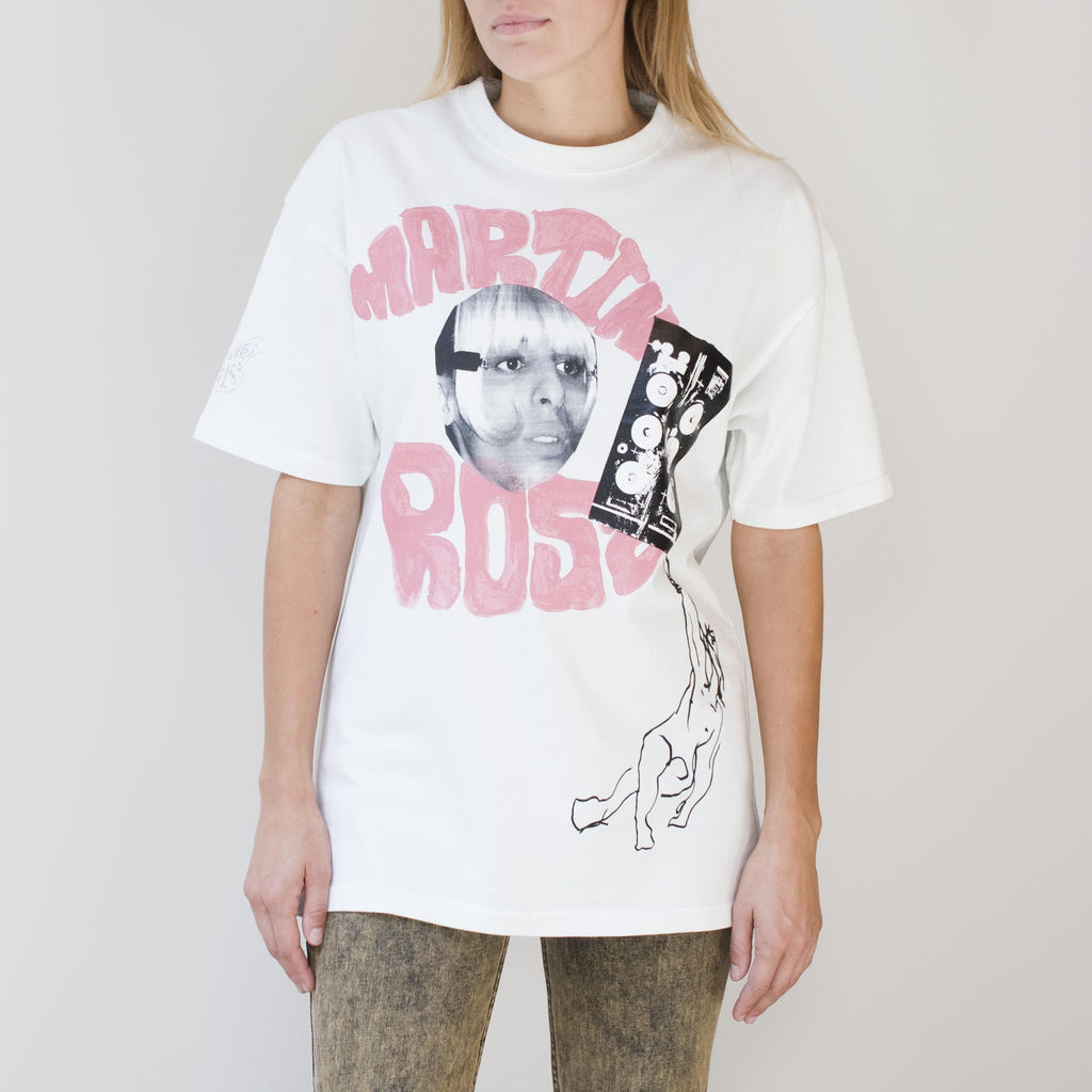 Martine Rose - Omnia Adam Tee, front view, available at LCD.