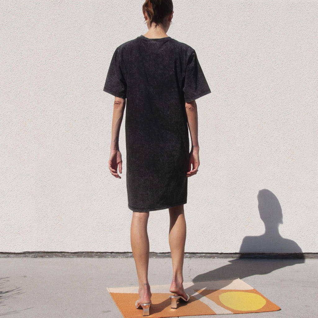 Perks and Mini - Open Layout Wet Cement Dress, back view, available at LCD.