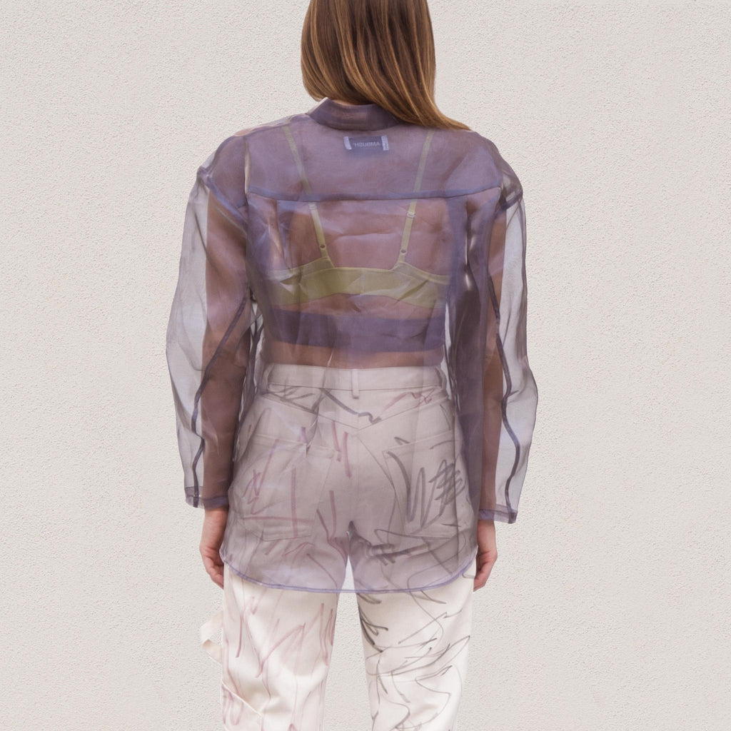 Ambush - Organza Shirt, back view, available at LCD.