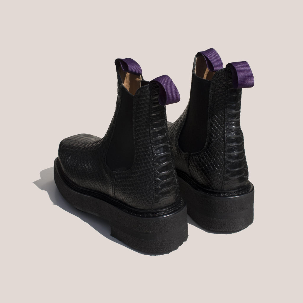 Eytys - Ortega Embossed Chelsea Boot, back view, available at LCD.