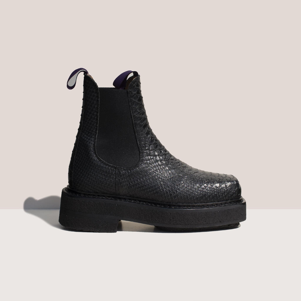 Eytys - Ortega Embossed Chelsea Boot, side view, available at LCD.
