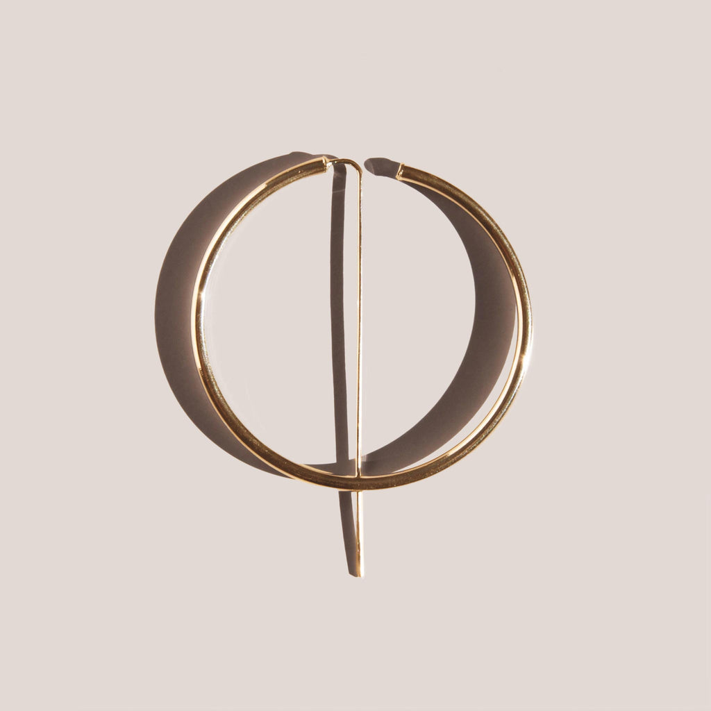 Jaclyn Moran - Oversized Hoop & Post Earrings - Gold, available at LCD.