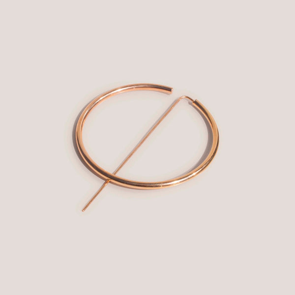 Jaclyn Moran - Oversized Hoop & Post Earrings in Rose Gold, available at LCD.